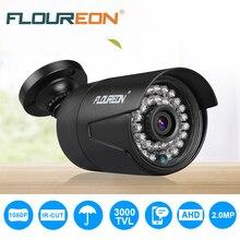FLOUREON AHD 1080 P 3000TVL камера PAL водостойкая наружная камера видеонаблюдения DVR 2.0MP камера видеонаблюдения система ночного видения
