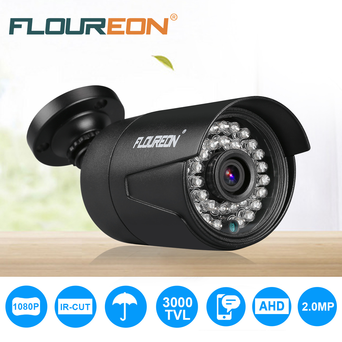 Top Rated Home Security Systems >> FLOUREON AHD 1080P 3000TVL Camera PAL Waterproof Outdoor ...