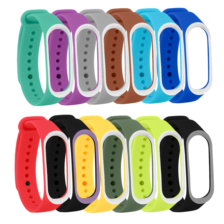 Double Color Strap For Mi Band 3 4 Smart Band Accessories For Xiaomi Miband 3 4 Smart Wristband Strap For Miband 3/4