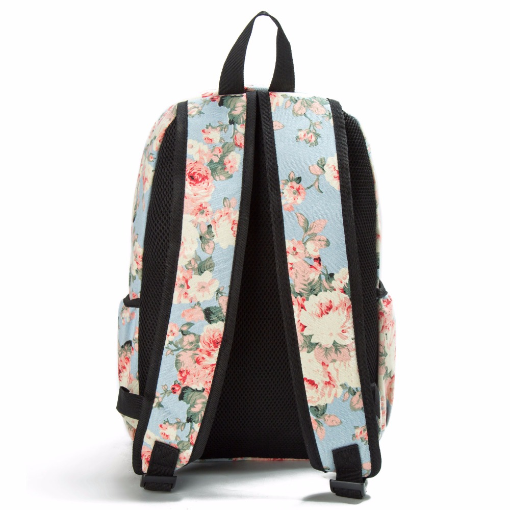 Image 2 - Miyahouse Fresh Style Women Backpacks Floral Print Bookbags Canvas Backpack School Bag For Girls Rucksack Female Travel Backpack-in Backpacks from Luggage & Bags