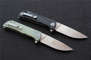 Image 3 - CH CH3001 G10 Flipper Folding Knife D2 blade Ball Bearing G10+steel Hhandle Camping Hunting Outdoor Pocket Knives EDC tools