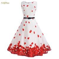 Zomer kids jurk meisjes party jurken mouwloze bloemen slim fit A-lijn big zoom tiener meisje kostuums maat 14 15 kleding