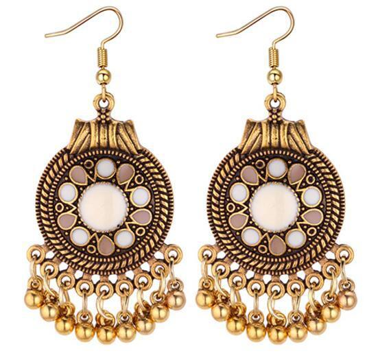 Ethnic Vintage Tassel Dangle Earrings for Women Bohemia Style Earring  Indian Jewelry Brincos 2018 Wholesale-in Drop Earrings from Jewelry    Accessories on ... c1ea293c8280