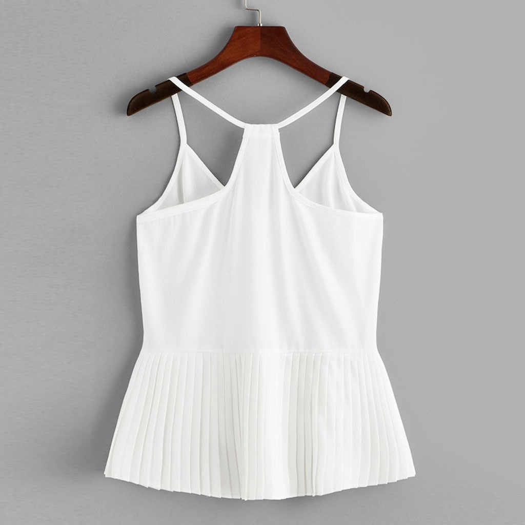 女性の夏のノースリーブ夏のトップス 2019 作物のベストのタンクシャツカジュアルキャミ tシャツ女性海 vestidos デ verano に # G6