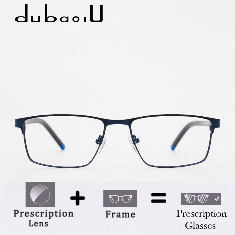 Metal Prescription Glasses Men Brand Designer Transparent Computer Optical Myopia Prescription Eyeglasses Full Rim #HQ04-22