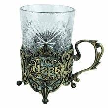 Kreative zwei teilig tasse geschenk box Zink-legierung einsatz Tragbare tasse/Reisen Tassen/Wein Tee Tassen die klassische könig geschenk