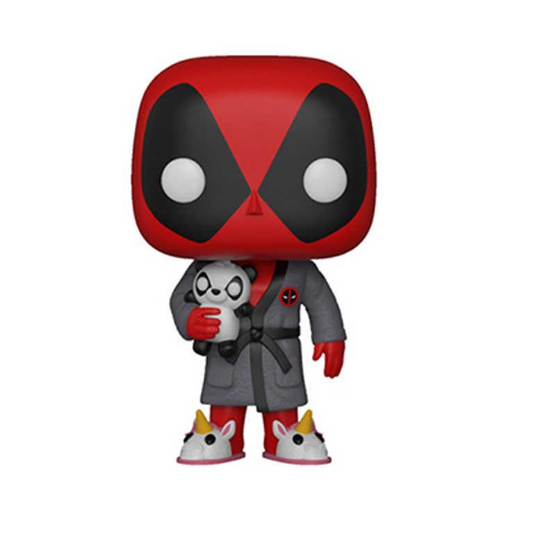 Deadpools Cosbaby Q Nampaknya Gemetar Kepala Mobil Dekorasi Ornamen Mati Bob Ross Pop Kepala Besar Pvc Mainan untuk Anak-anak Anak Laki-laki hadiah