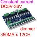 Новая лучшая цена 1 шт. 350ma постоянный ток 12 каналов DMX512 декодер постоянный ток DC5V-36V 350MA * 12CH dmx 512 контроллер