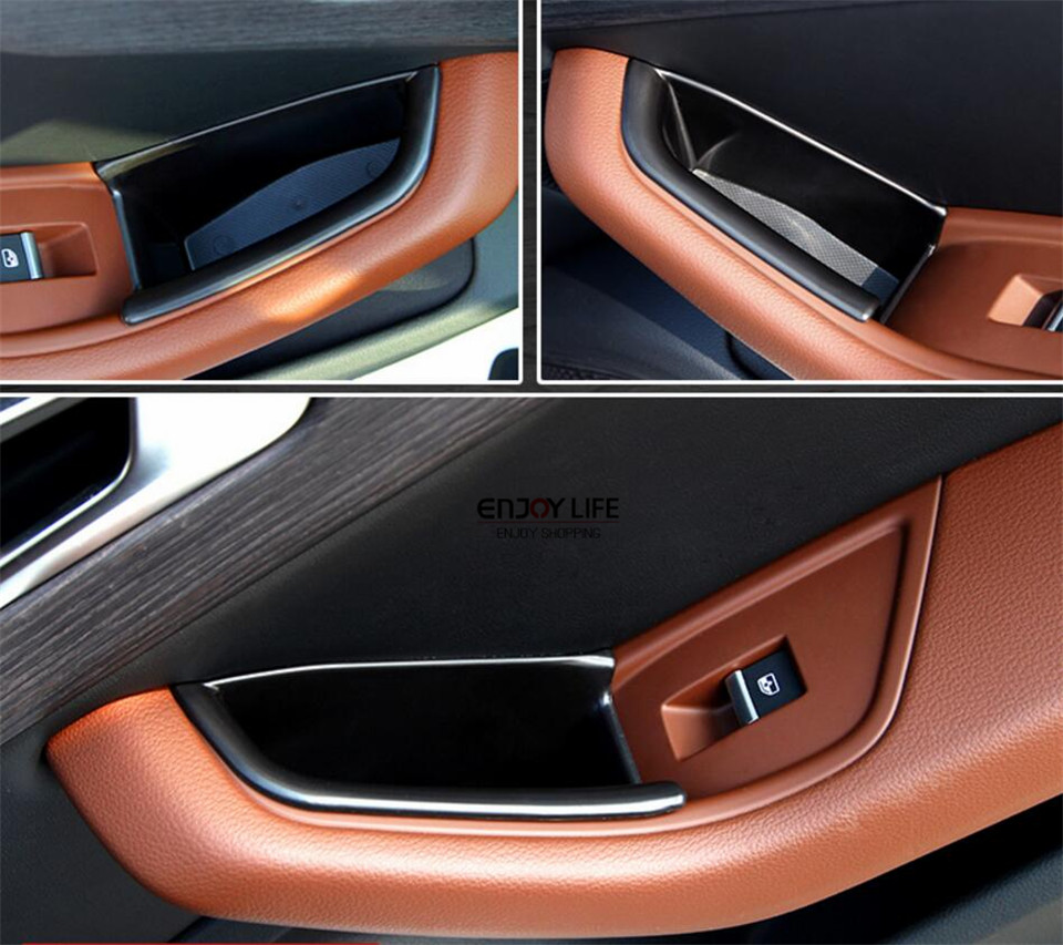 4pcs car door handle armrest box container storage organizer tray for audi a4 b9 2016 2017
