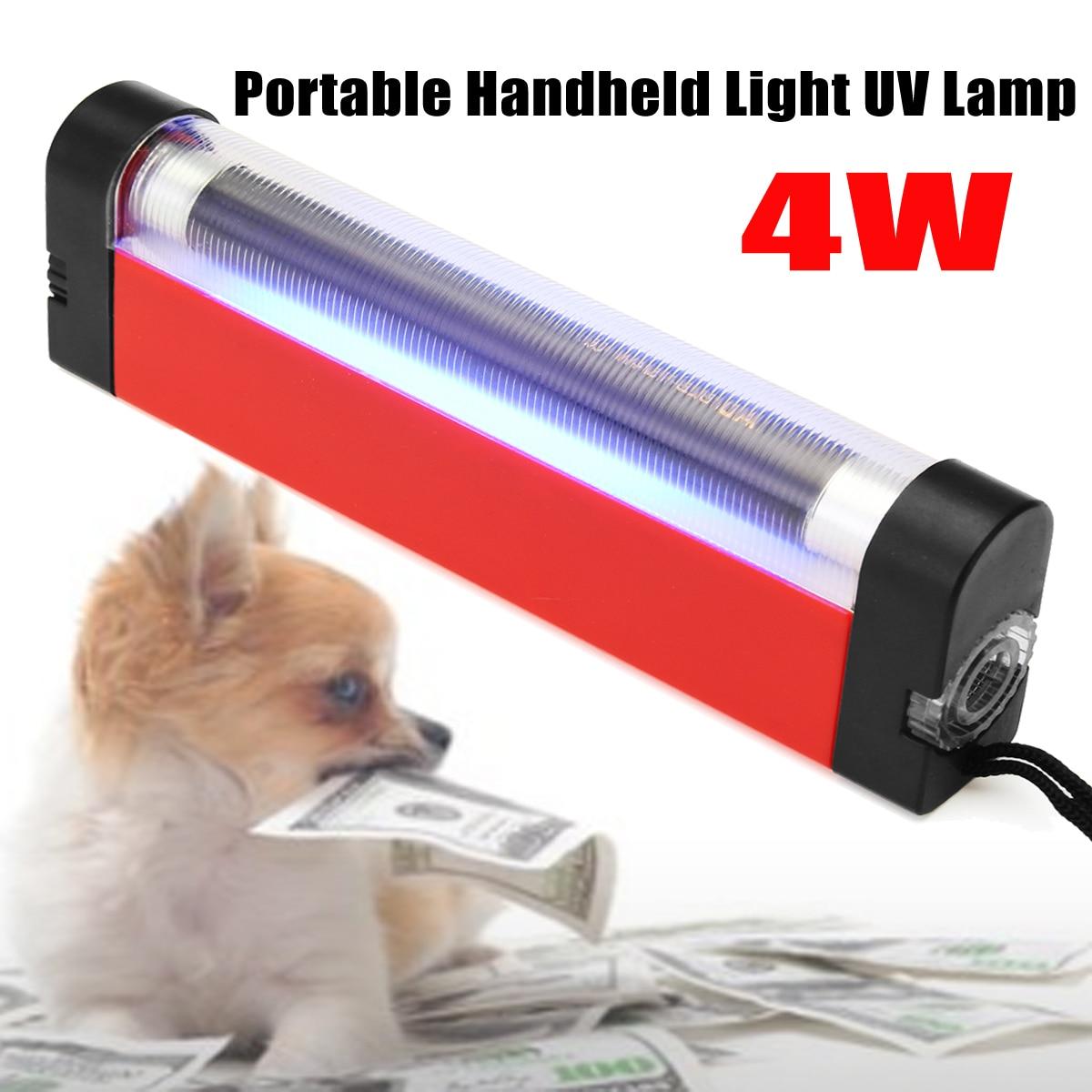 New Portable Handheld Wood's Light UV Lamp 4W for Skin Care Diagnosis Torch Light Flashlight