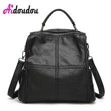 Aidoudou Брендовые женские рюкзак решетки rugzak сетки назад сумка Mochila плед Симпатичные площадь овчины кожаные рюкзаки женщины сумку коробка