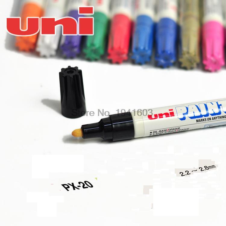 6 Pcs/Lot Free Shipping Mitsubishi uni PX-20 paint pen MITSUBISHI paint pen for vehicle tire