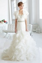 Free Shipping Romantic Trumpet Sweetheart Neckline Sweep Train Mermaid Wedding Dress Patterns With Beadings WX11633