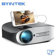 BYINTEK бренд MOON M7 200 дюйма Главная Театр HD видео проектор светодиодного лазера для Iphone Смарт Android мобильного телефона Full HD 1080 P