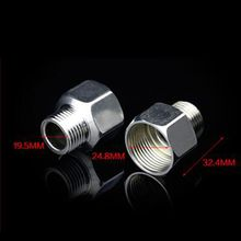 "1/2"" Male to 3/4"" Female BSP Thread Equal Pipe Fitting 201 Stainless Steel Reducer Hose Straight Connector"