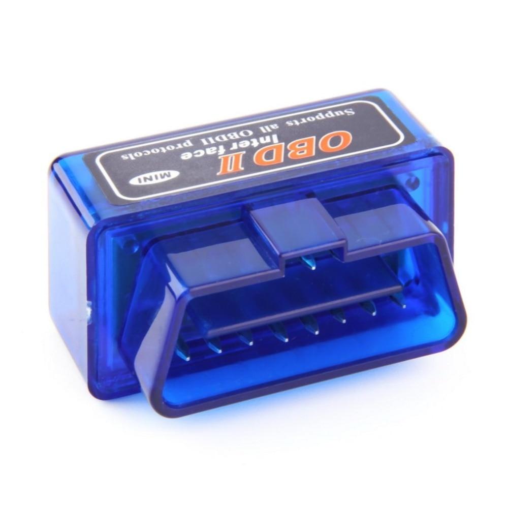 Super Mini ELM327 OBD2 II Wireless Bluetooth Car Auto Diagnostic Interface Scanner Tool Blue Portable ABS Plastic Tool