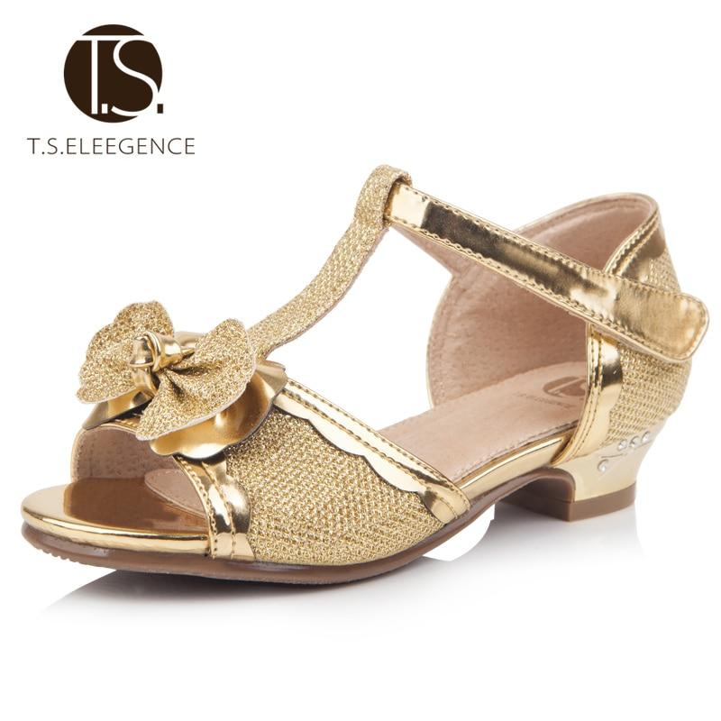 Ts Kinder Sandalen Spitze Bowtie Prinzessin Kind Schuhe