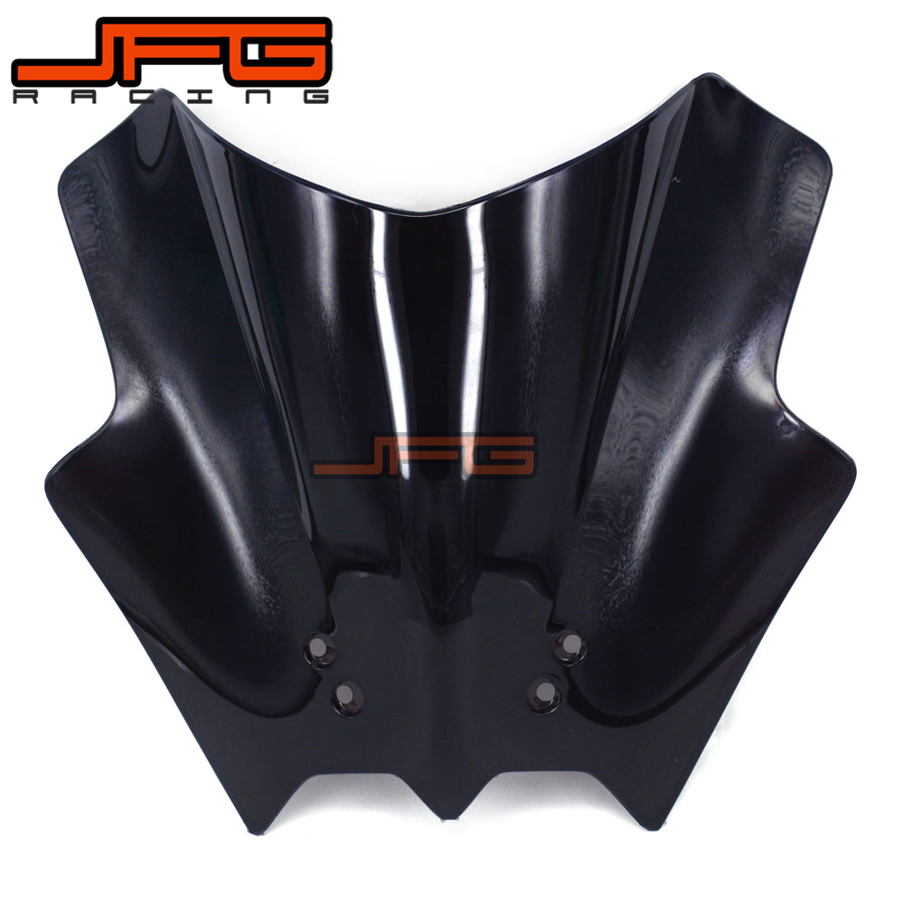 Black Windscreen Windshield for KTM 125 200 390 Duke Motorcycle Motorbike Street Bike Free Shipping motorcycle front rider seat leather cover for ktm 125 200 390 duke