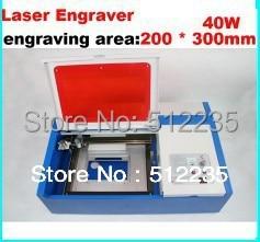 دستگاه لیزر حکاکی لیزری 220V 40W 200 * 300mm CO2 مینی دستگاه لیزر 2030 با پشتیبانی USB Sport MoshiDraw