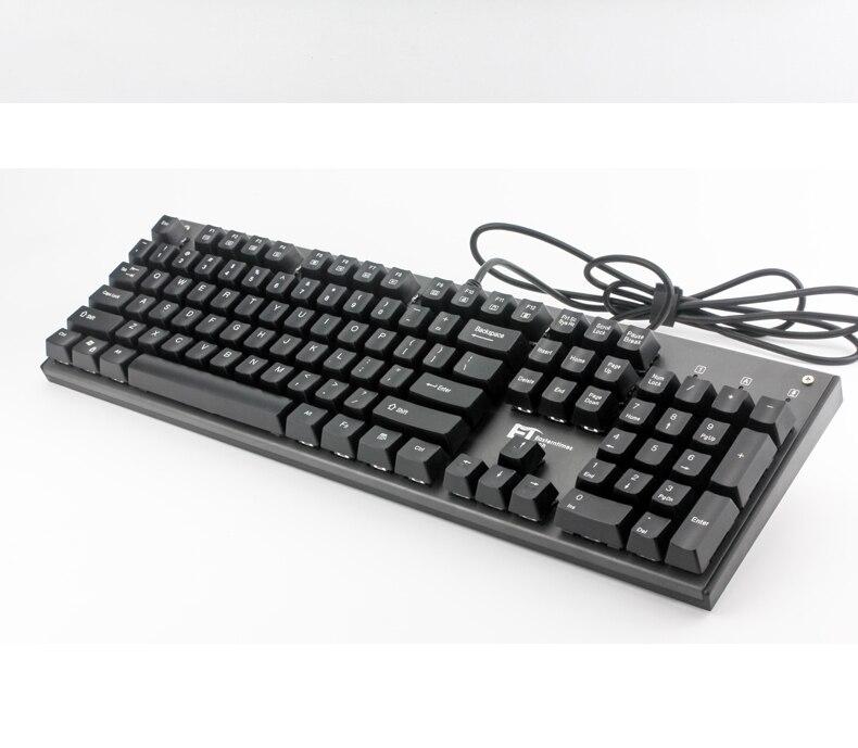 ET K1 Gaming Mechanical Keyboard 104 Keys USB N K Rollover Metal Case Multifunction MX Blue