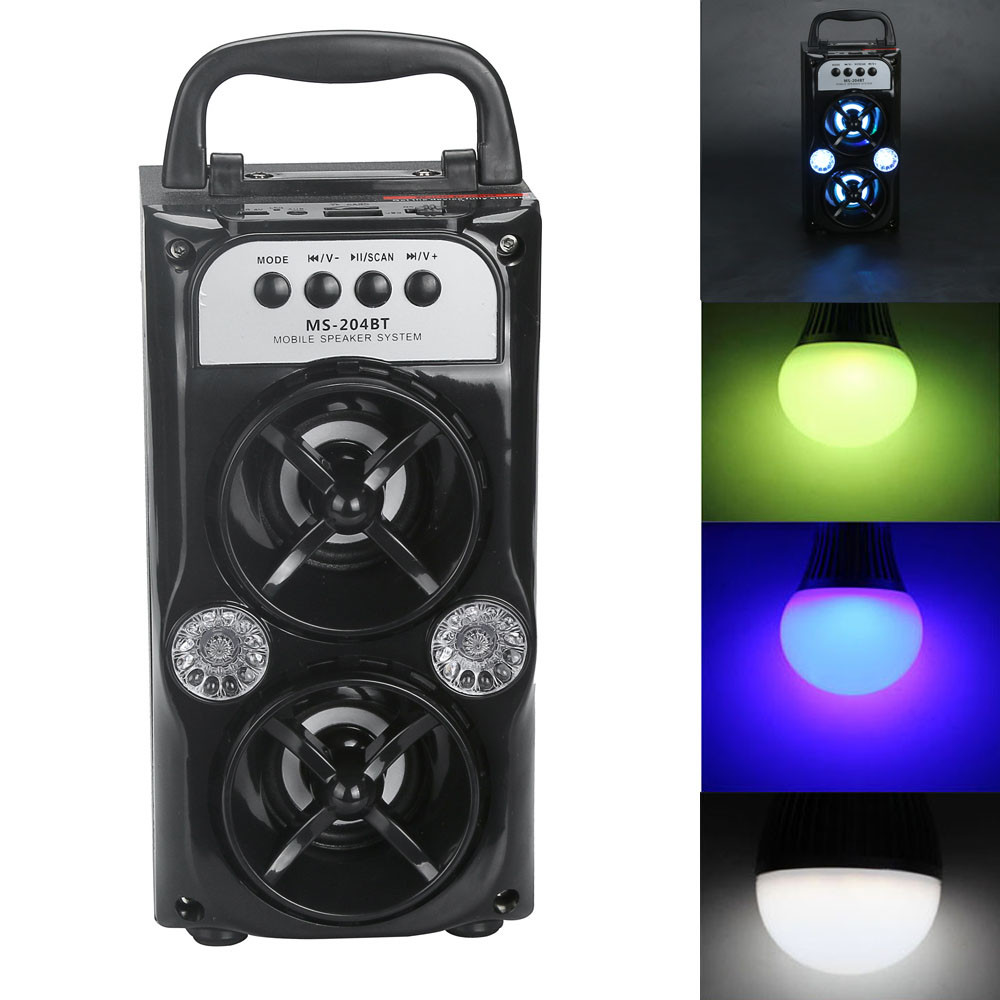FGHGF Outdoor Bluetooth Wireless Portable Speaker Super Bass with USB/TF/AUX/FM Radio Fashion Phone Subwoofer Mini Drop Ship
