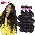 4 Связки Бразильский Объемная Волна Человеческих Волос Weave Бразильского Виргинские Волос Объемной Волны Бразильский Волос Weave Связки Queen Hair Products