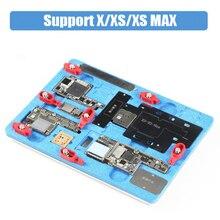 PCB держатель ремонтная арматура для iPhone X XS MAX материнская плата для посадки На Заказ Металл Олово BGA реболлинг трафарет A11 удаления черных кругов под клей