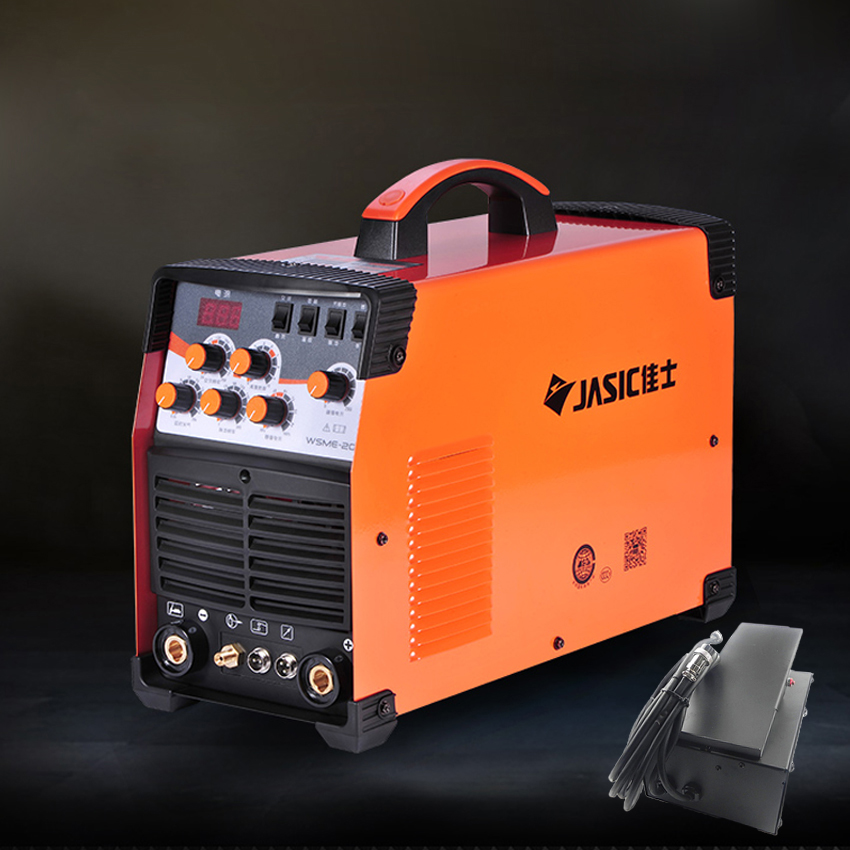 WSME-<font><b>200</b></font> <font><b>AC</b></font>/<font><b>DC</b></font> <font><b>TIG</b></font>/MMA Square Wave Pulse Inverter Welder 220-240V With Foot Control Pedal image
