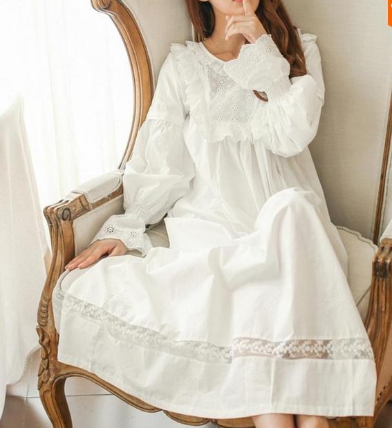 Aliexpress.com : Buy Pure Royal Memory Pure Cotton Nightgown ...