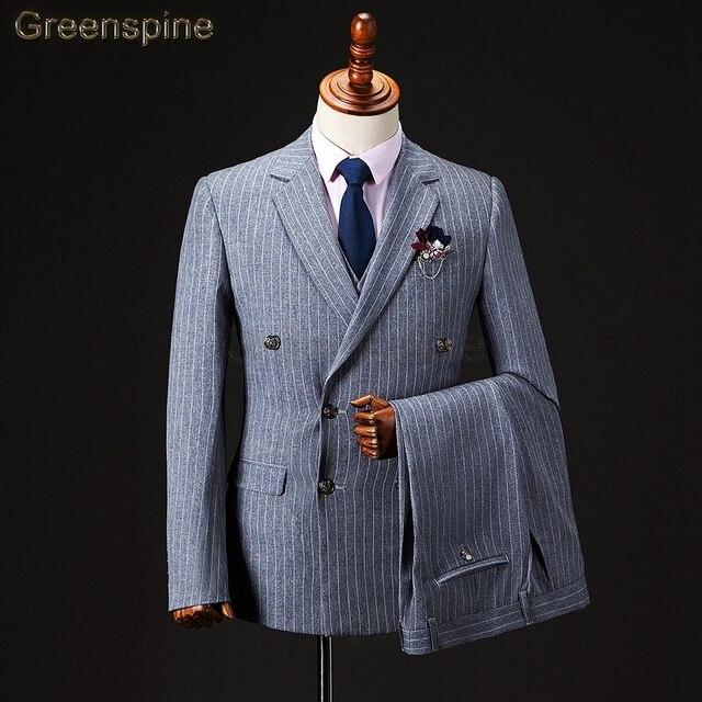 Mens traje chaqueta Formal de negocios los hombres de los pantalones dos piezas  partido botón único 819e6b4855e2