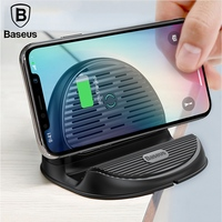 BASEUS Desktop Holder Qi Wireless Charger 10W Fast Charging With Radiating Fan For iPhone X 8 Samsung Note 9 Huawei Universal