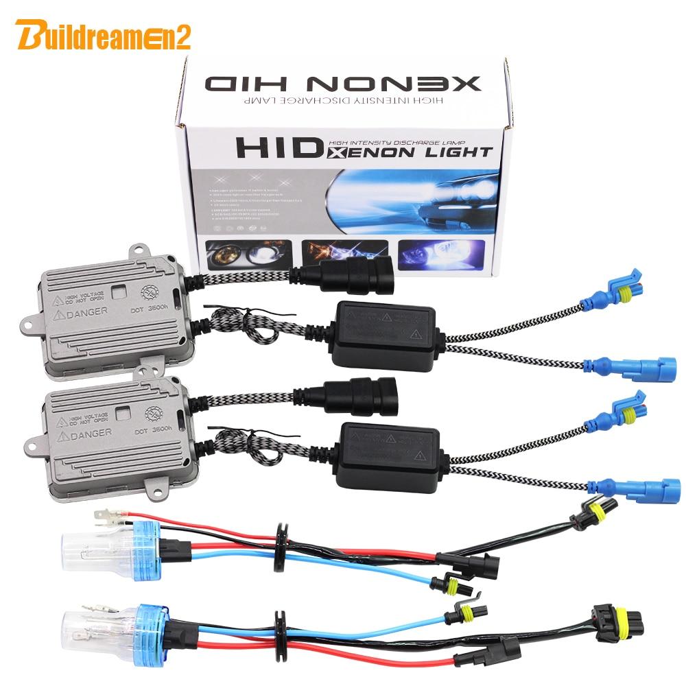 Buildreamen2 9005 HB3 9006 HB4 H1 H3 H7 H8 H9 H11 881 880 55 watt Auto Licht HID-Xenon-Kit AC Ballast Birne Auto Scheinwerfer Nebel Licht