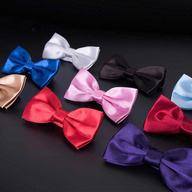 رجل ربطة الزفاف منديل الرسمي الساتان الكلاسيكية بلون ربطة العنق موضة ساحة الجيب هدية نمط ربطة القوس فيونكة برقبة جديد