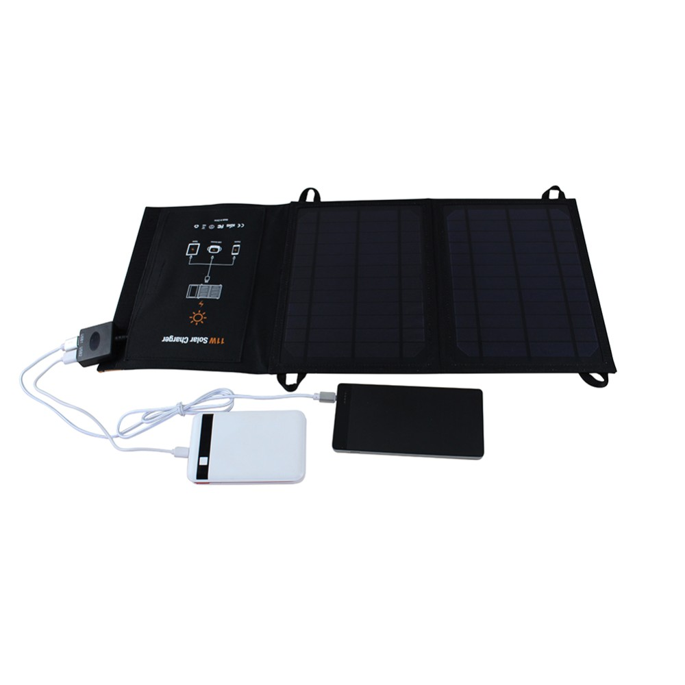 Portable Solar Charger Foldable PowerBank Outdoor Portable Solar Panel Charger for Cell Phone Mobile Phone MP3 11W foldable portable phone flat bracket