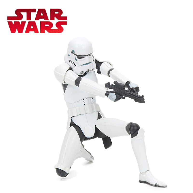 Box 15.5cm Star Wars Toy Series No 002 White Stormtrooper REVO PVC Action Figure Anime Figures Collection Model Dolls Toys kodoto soccerwe roma totti football soccer moveable star collection dolls toy figures