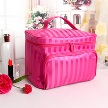Waterproof Oxford Cloth Organizer Travel Toiletry Cosmetic Bag Gift for Women Beauticians Makeup Bags Zipper Make Up Wash