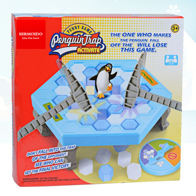 The Party Gear Penguin Trap Activates An Indoor Board Game Ice Breaks Down Table Entertainment Toys For Children'S Birthday Toy