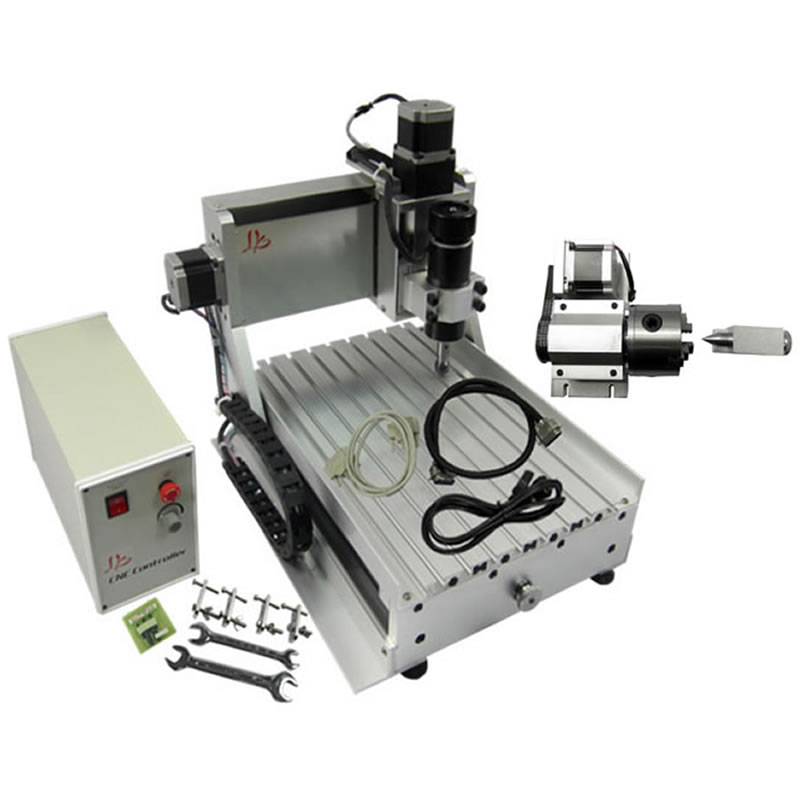 USB / Parallel port Mini CNC Engraving Machine 500W Spindle 4 Axis CNC Router Lathe Woodworking Machine 500w mini cnc router usb port 4 axis cnc engraving machine with ball screw for wood metal