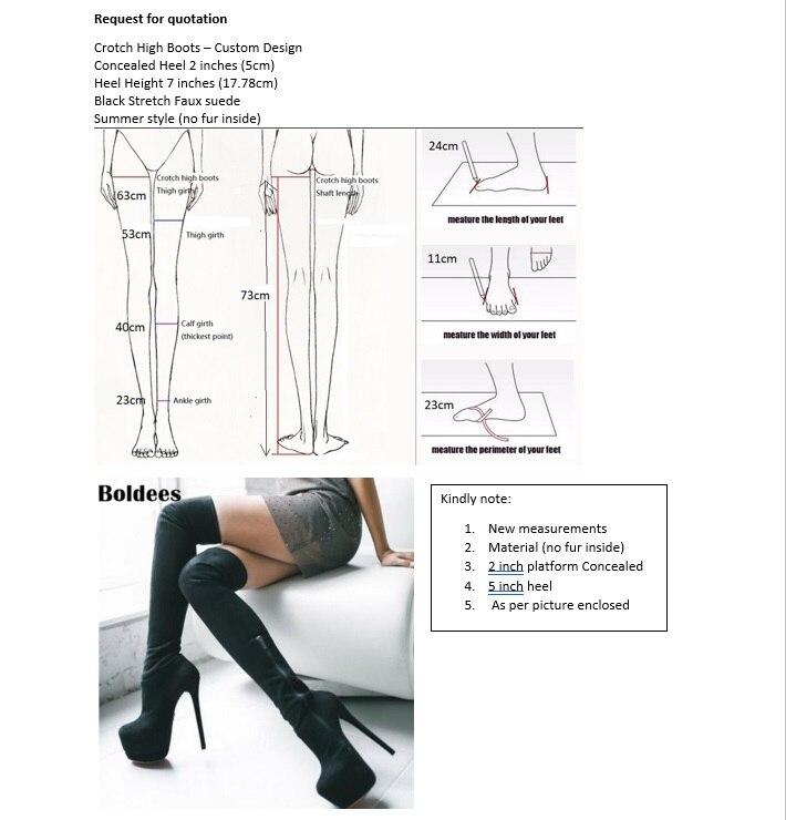 Sorbern Custom Crotch Thigh High Boots For Women Super High Heels Platform Shoes Women Side Zipper Custom Legs Size Boots