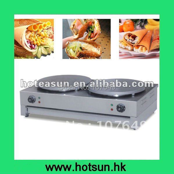 Two Heads 220V Electric Crepe Baker
