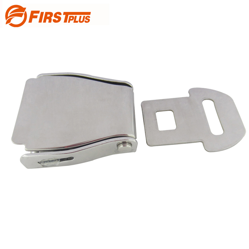 304 Stainless Steel Airplane Seat Belt Buckle Safety Seatbelts Clip Men Waist Belts Lock Buckles - Sliver image