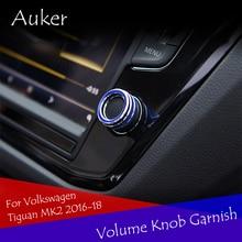 Auto Interruttore di Regolazione Del Volume Manopola Cerchio Decorativo Anello Contorno Auto-styling Per 2016 2017 2018 Volkswagen Tiguan MK2
