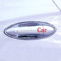 Apto para opel astra k hatchback 2016 - 2019 acessórios do carro abs chrome porta do carro copo tigela capa guarnição 8 pçs
