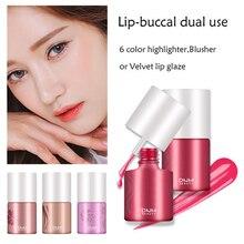 Rubor en polvo cara en 3D naranja rosa resistente al agua Natural suave colorete líquido maquillaje con rubor contorno facial TSLM1