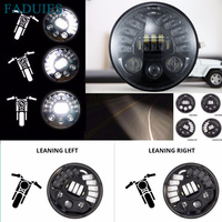 FADUIES Motorcycl 7 inch Adaptive LED Headlight High/Low Beam For Harley Touring Electra Glide Led Projector Daymarker Headlamp