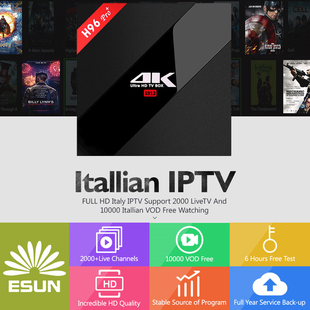 H96 IPTV BOX H96Pro+ Android 7.0 IPTV BOX 3/32G S912 Albania French Germany Portugal IPTV EX-YU XXX 7000+VODH96 IPTV BOX H96Pro+ Android 7.0 IPTV BOX 3/32G S912 Albania French Germany Portugal IPTV EX-YU XXX 7000+VOD