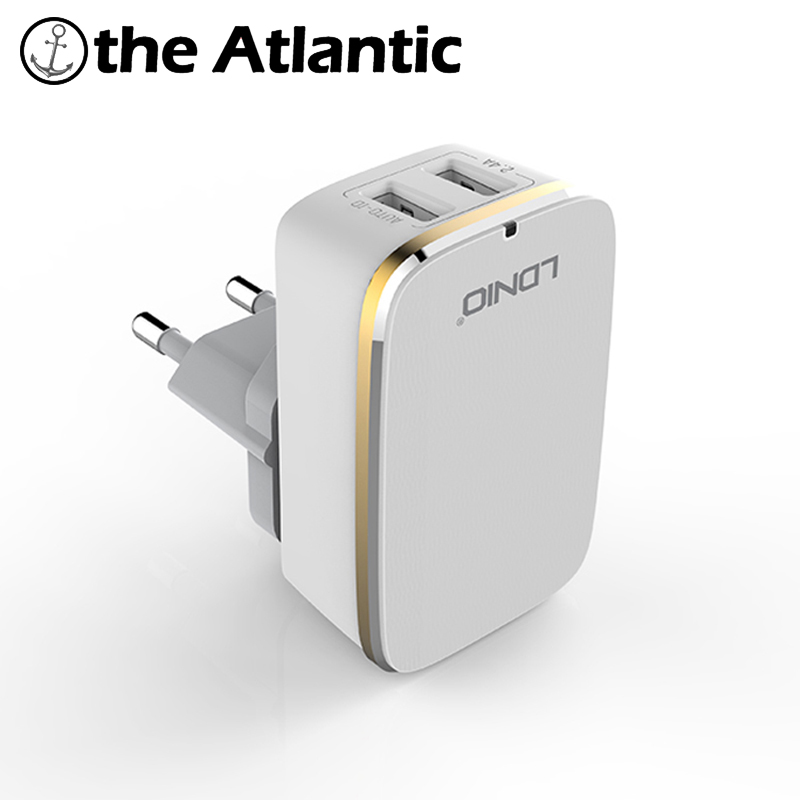 LDNIO A2204 Dual 2 Port USB Plug 5V 2.4A Quick Charger US EU UK AU Power Socket Smart Current For iPhone iPad Android сетевое зарядное устройство orico dcw 4u bk 4 usb 9 6a черный