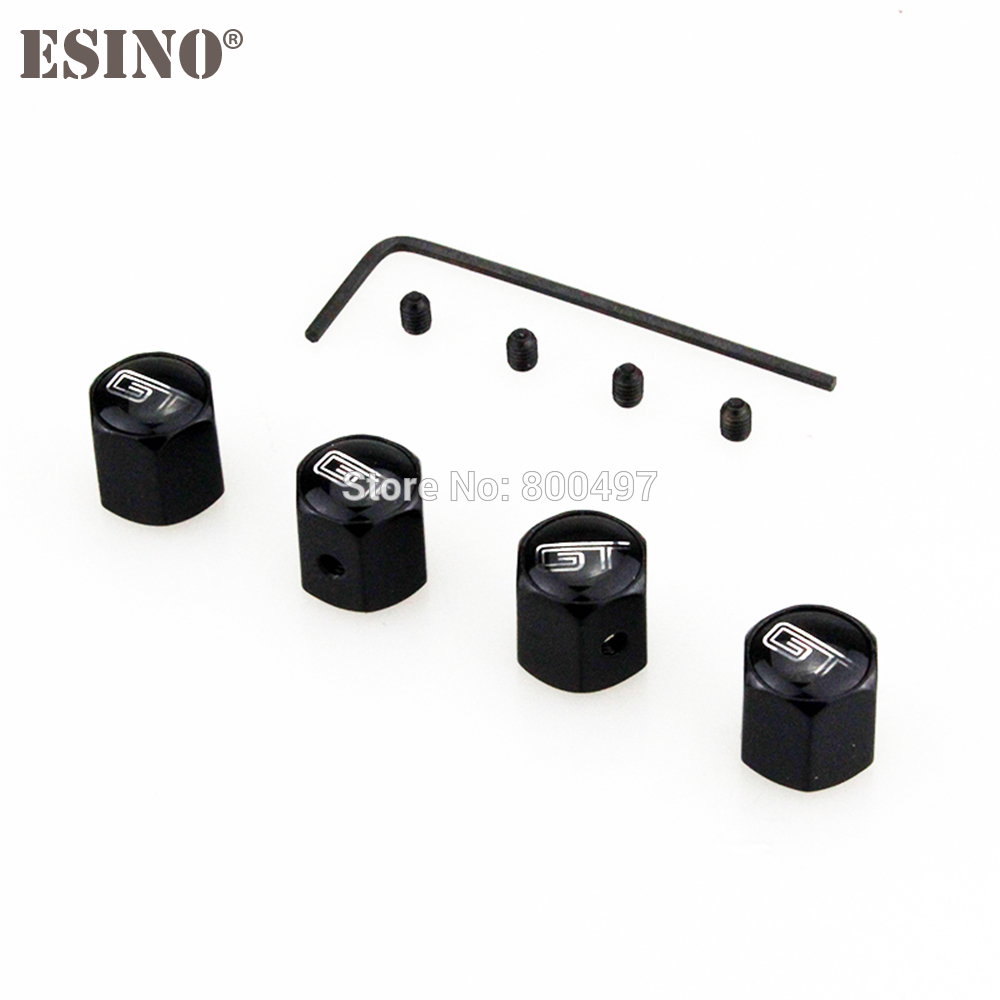 4 X Car Styling Personalized Anti-theft Stainless Wheel Tire Valve Stems Caps Car Wheel Tire Stem Air Valve Caps For Ford GT