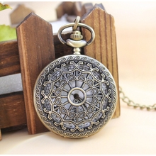 New Arrival Pocket Watch Steampunk Vintage Hollow Cover Analog Skeleton Hand Winding Pocket Watch of Men