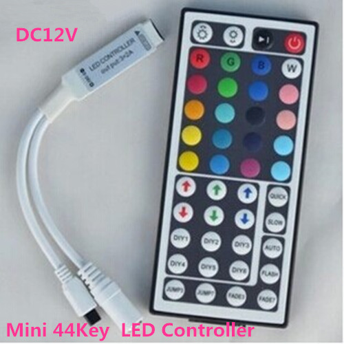 100pcs DC12V Mini 44Key RGB LED IR Remote Controller for 3528 <font><b>5050</b></font> Strip Light image